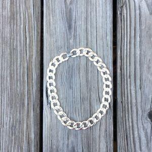 Vintage Napier Silver Tone Chain Link Necklace